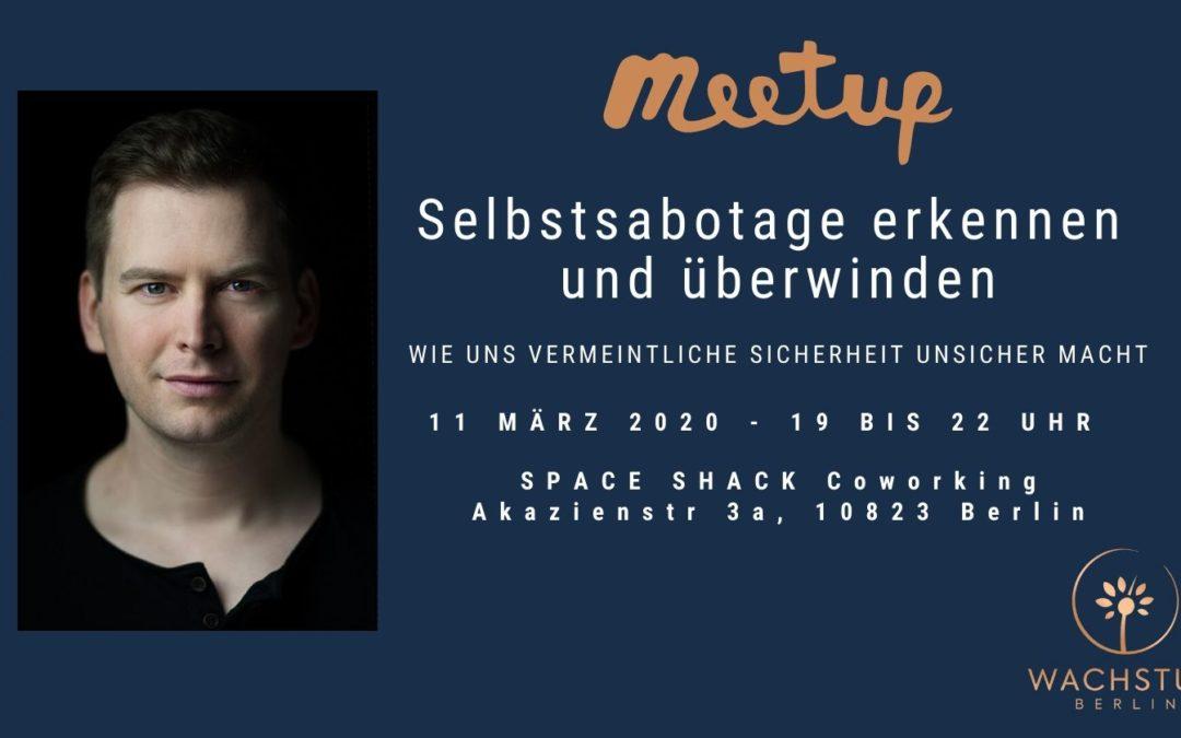 Meetup: Selbstsabotage erkennen und überwinden